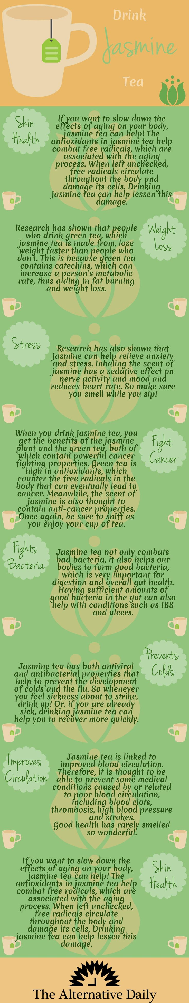 I swear I have a cup of Jasmine and a cup of Mint green tea everyday. If I feel that once a year cold coming on, BOOM tea all day