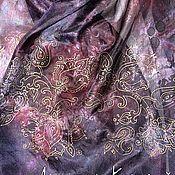 """Аксессуары ручной работы. Ярмарка Мастеров - ручная работа шарф батик """"Чернильный Пейсли"""". Handmade."""