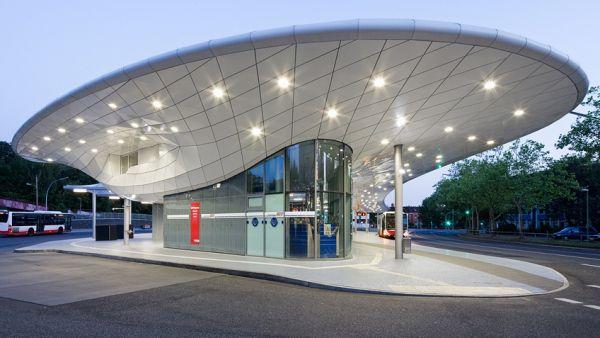 Bus station Hamburg-Poppenbüttel   ALUCOBOND® plus Aluminium-Verbundplatten (3A Composites) - ais-online ...