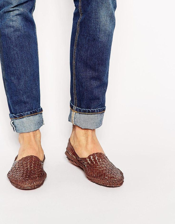 Shoes by ASOS Woven leather Slip-on style Round toe Treat with a leather  protector Leather Upper