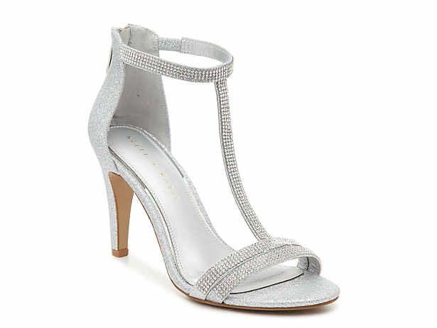 Women's Silver Dress Ankle Strap