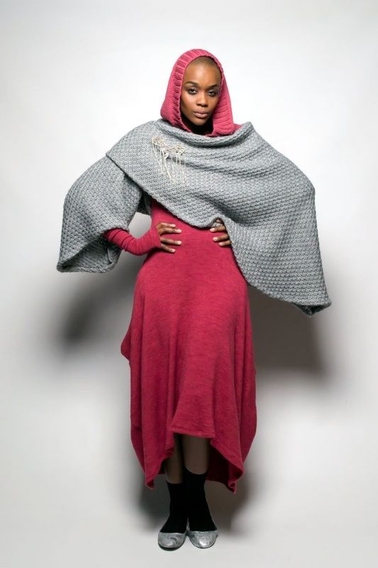 SIES!isabelle winter14 Heleni dress with alpaca knit
