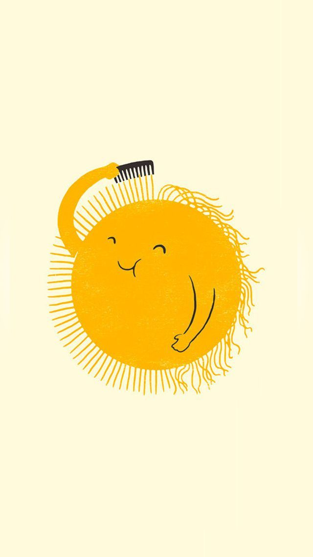 ↑↑TAP AND GET THE FREE APP! Art Creative Funny Sun Haircut Smile HD iPhone Wallpaper