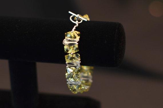 Mellow Yellow Bracelet by JewelrybyMKDesigns on Etsy