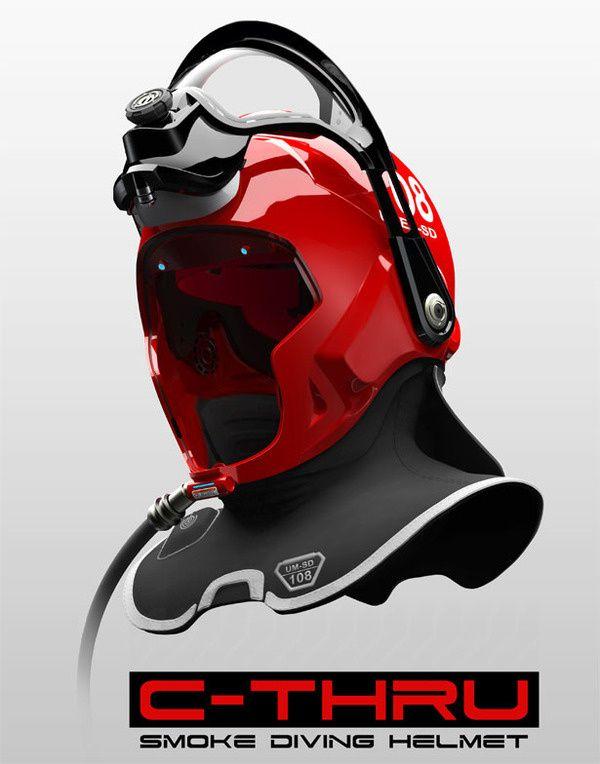C Thru Smoke Diving Helmet in Design Concept