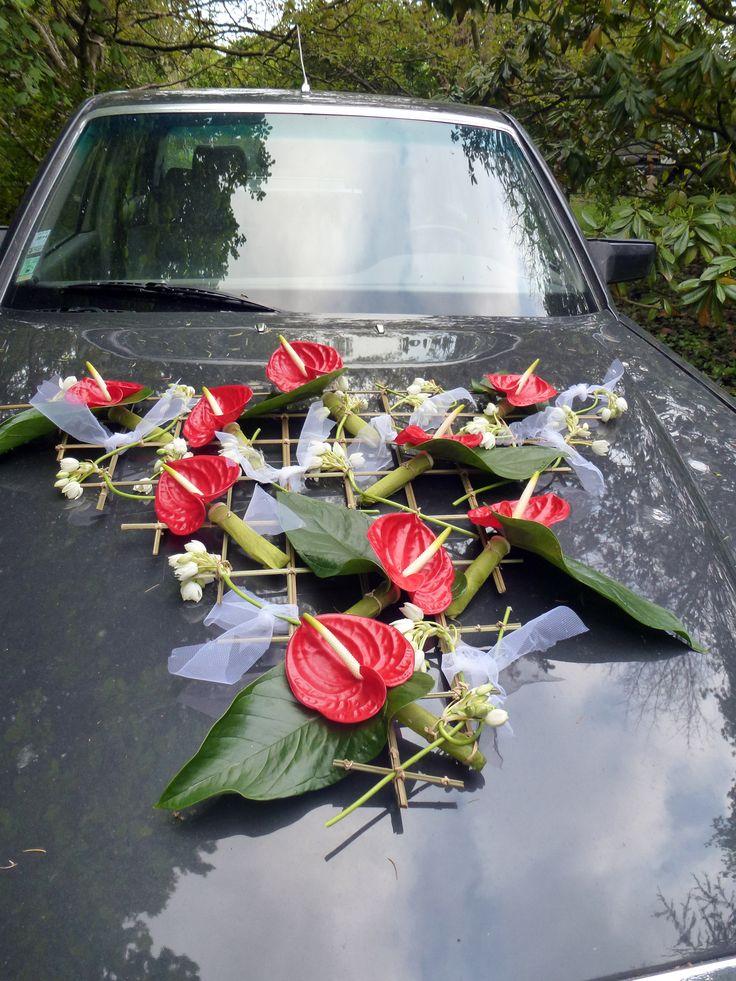décoration de capot voiture
