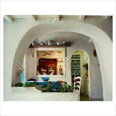 traditional greek kitchen