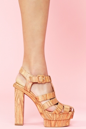 'Eva B' Platform in Wood from Jeffrey Campbell