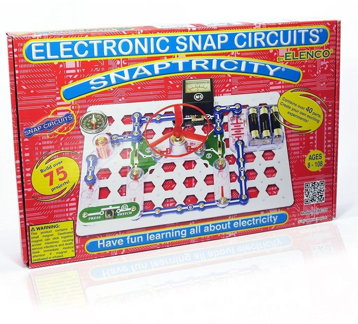 Snap Snaptricity Electronics Discovery Kit Learning Electricity Magnetism Toy #Elenco #Snap #Electronics #Discovery #Kit #Learning #Toy #Educational #Fun #Science