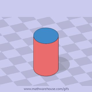 Surface Area of Cylinder animation -          Repinned by Chesapeake College Adult Ed. We offer free classes on the Eastern Shore of MD to help you earn your GED - H.S. Diploma or Learn English (ESL) .   For GED classes contact Danielle Thomas 410-829-6043 dthomas@chesapeake.edu  For ESL classes contact Karen Luceti - 410-443-1163  Kluceti@chesapeake.edu .  www.chesapeake.edu