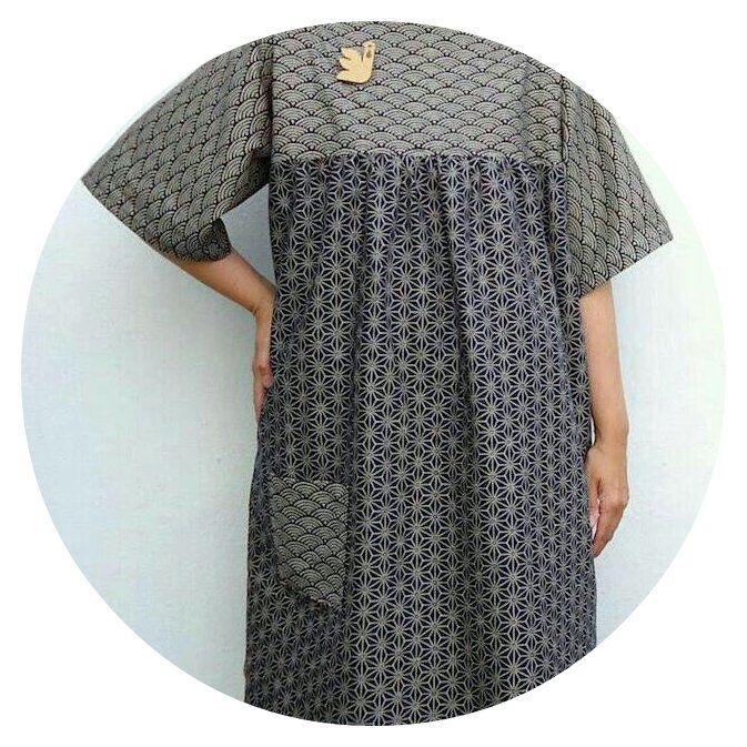 Gather one-piece: pattern from Yoshiko Tsukiori's Easy Cute Straight Stitch Sewing