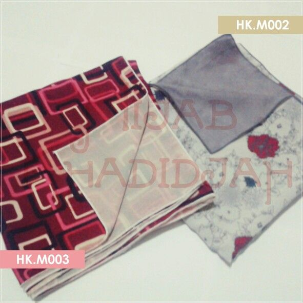 Khimar Motifashion  IDR 55k  HK.M002 Light grey Black Red  HK.M003 Red BW Black  BBM 74144999