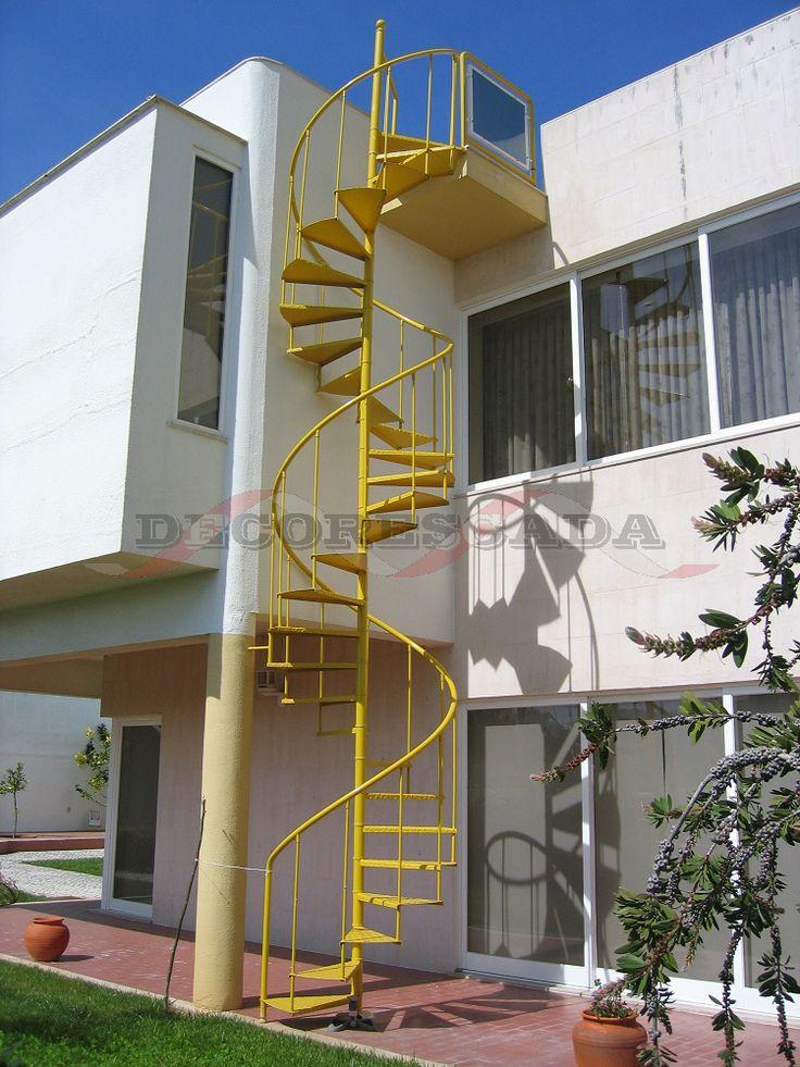 Escada em Caracol de Ferro