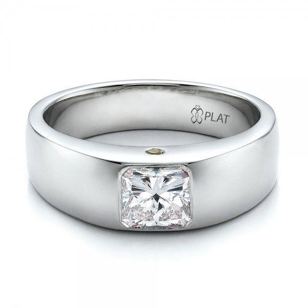 Men's Wedding Bands / Custom Diamond and Peridot Men's Wedding Band - Custom Design Jewelers of Seattle and Bellevue - Joseph Jewelry