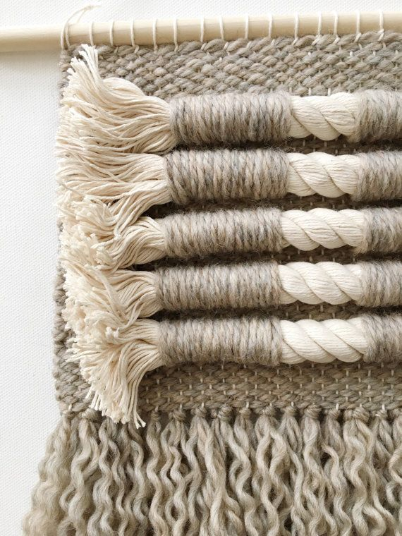 Woven Wall Hanging by KnackandWhimsy on Etsy