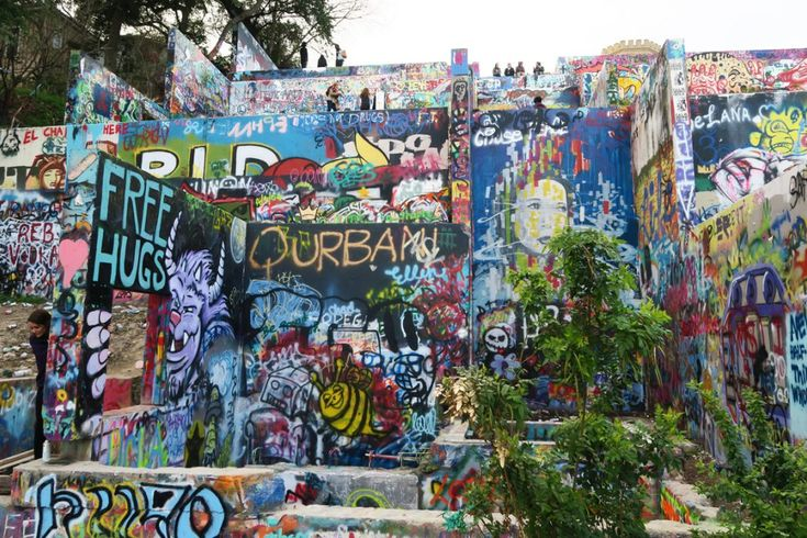 Graffiti Park in Austin, Texas.