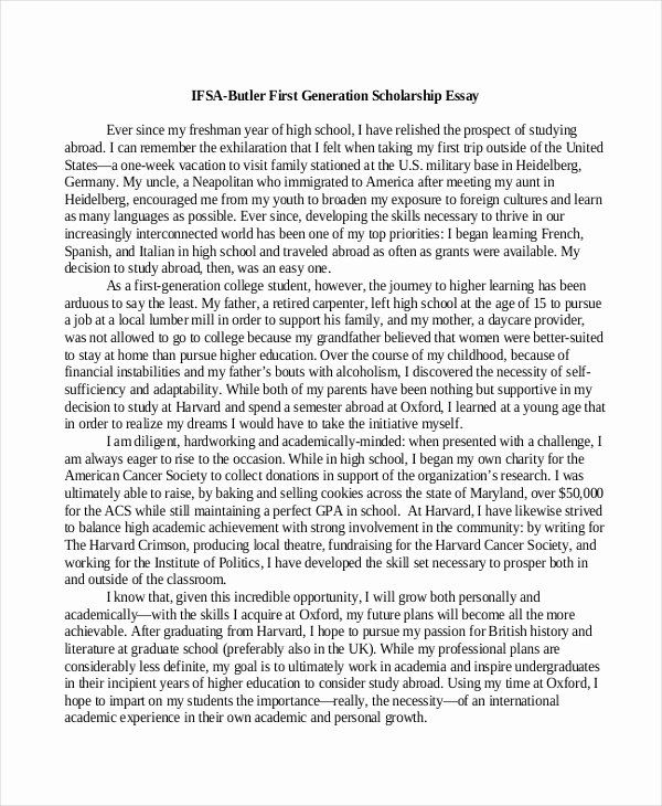 Sample Essay For Scholarship Lovely 9 Example Examples How To Write A