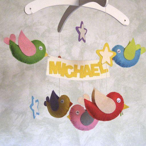 Móvil Infantil Birdca-Decoración habitación  bebé  de artenpapel por DaWanda.com