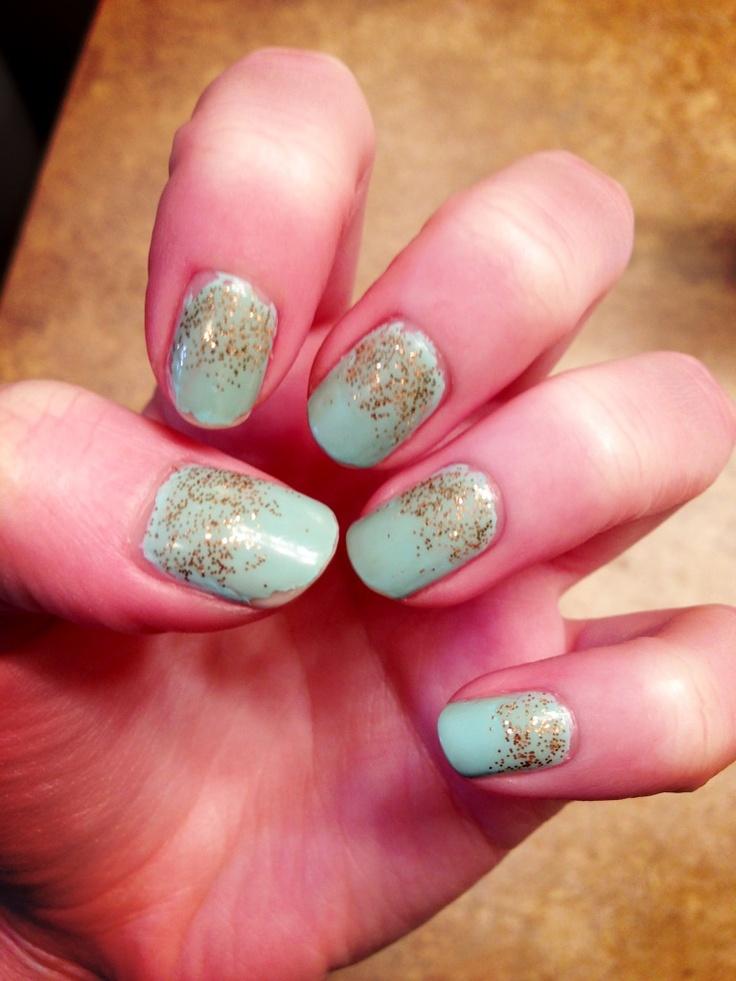 Essie gold glitter nail polish