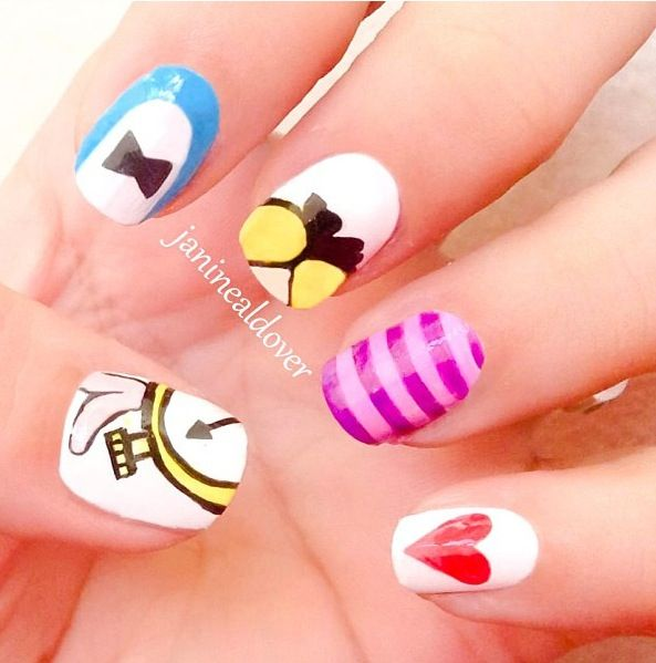 Alice in Wonderland Nails: Makeup Hair Nails Beautiful, Nails Art, Nails Aliceinwonderland, Nails Design, Hair Makeup Nails, Alice In Wonderland, Nails Desgin, Art Ideas, Wonderland Nails