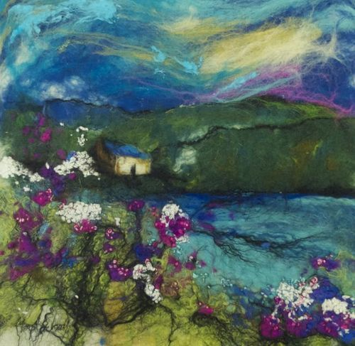 Moy mackay rose bay shore embroidery and textile art