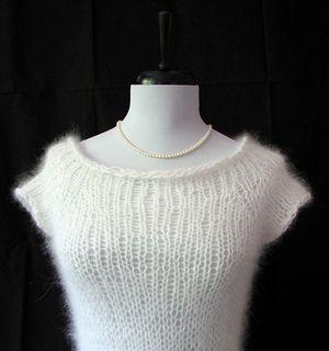 Airy Angora Raglan Top Down Sweater  pattern by Twice