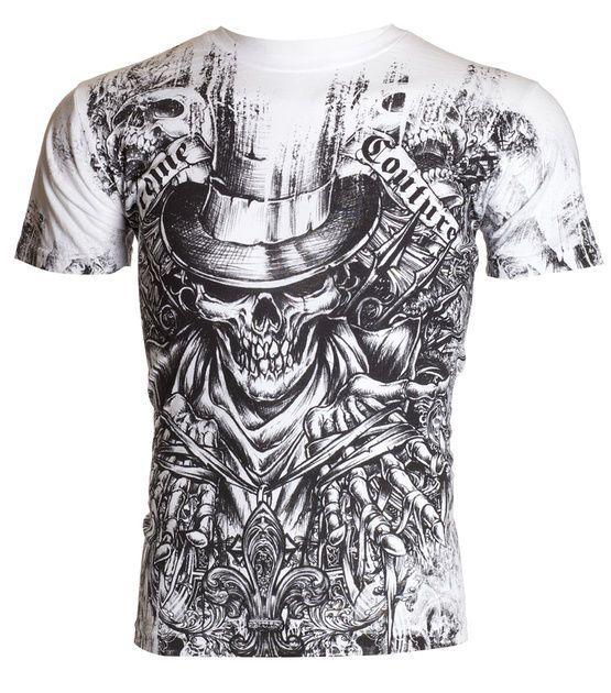 Xtreme Couture AFFLICTION Men T-Shirt OFFERING Skull Tattoo Biker UFC M-4XL $40 #Affliction #GraphicTee