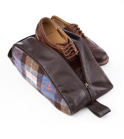 Harris Tweed Shoe Bag - Samuel