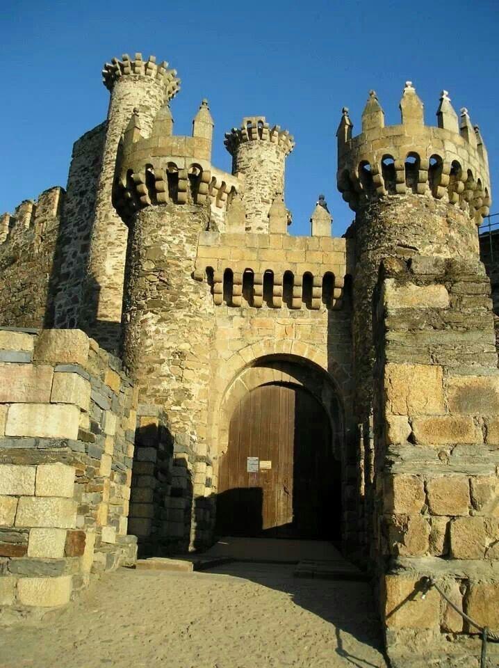 Castillo templario Ponferrada, León, España
