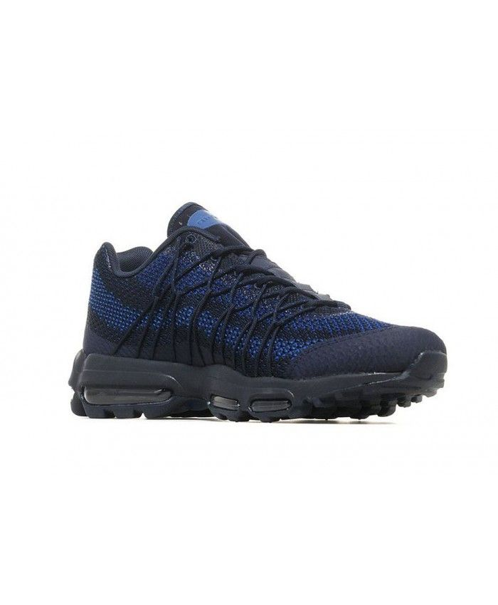 c86754a3987a Nike Air Max 95 Ultra Jacquard Navy Royal Black Blue Trainer