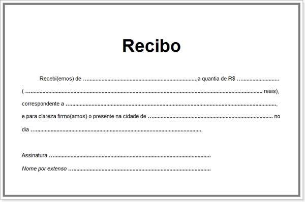 Modelo simples de recibo de pagamento | Projetos para experimentar ...