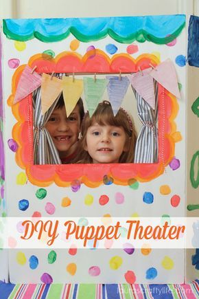 Kid's Craft: DIY Puppet Theater with Crayola #ColorfulCreations #shop @Walmart