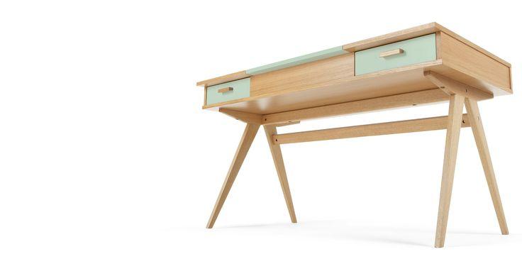 die besten 25 schreibtisch eiche ideen auf pinterest. Black Bedroom Furniture Sets. Home Design Ideas