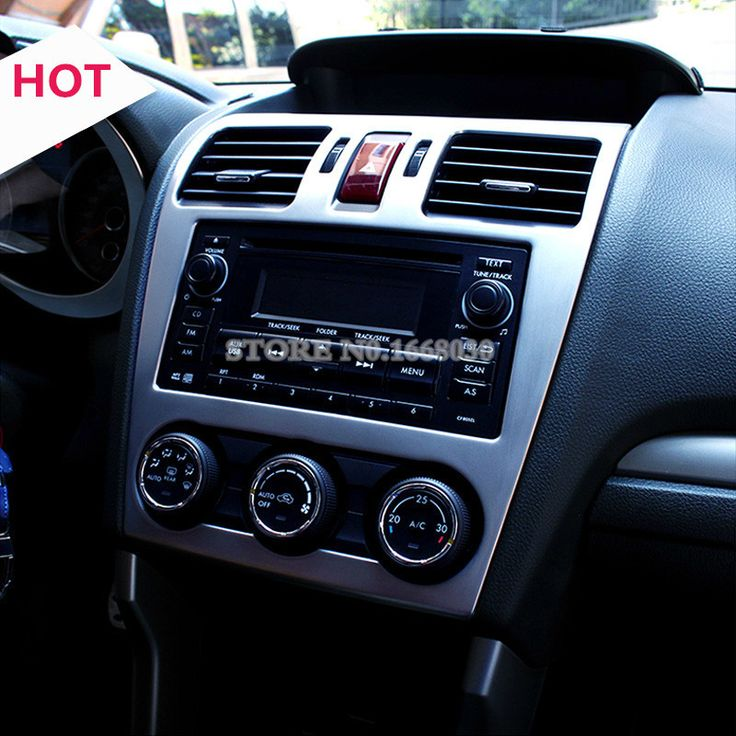 Interior Center Console CD Panel Trim Cover For Subaru XV Crosstrek 2012-2014 #Affiliate