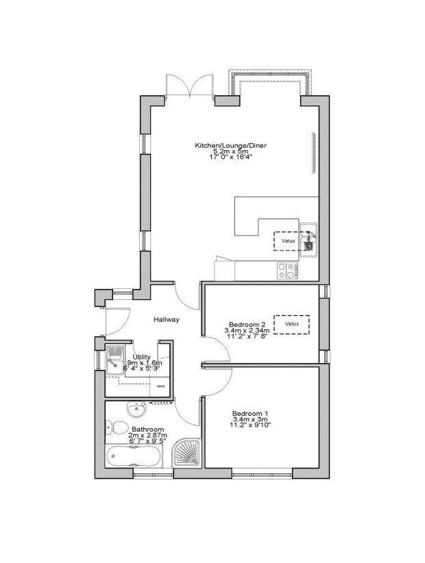 How Big Is A Granny Annexe Compared To A Bungalow Ihus Granny Annexe Floor Plans Granny Annexe Building A House