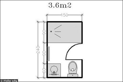les 25 meilleures id es de la cat gorie salle de bain 6m2 sur pinterest dimension douche plan. Black Bedroom Furniture Sets. Home Design Ideas