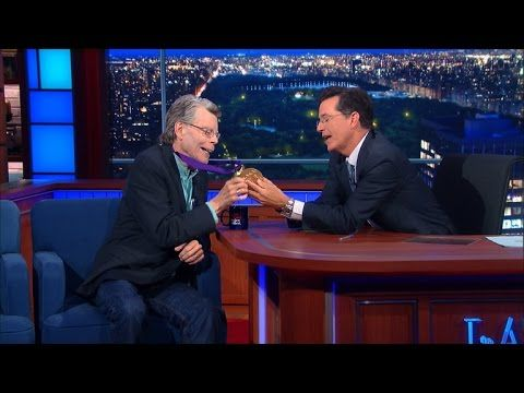 Stephen King channels Flavor Flav on Late Show with Stephen Colbert   EW.com