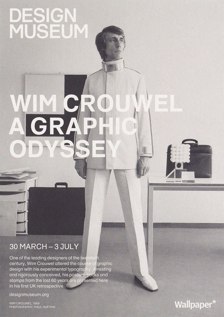 Wim Crouwel: A Graphic Odyssey retrospective exhibition