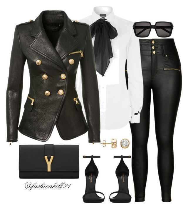 Lady Like by fashionkill21 on Polyvore featuring polyvore fashion style Polo Ralph Lauren Balmain City Chic Yves Saint Laurent women's clothing women's fashion women female woman misses juniors