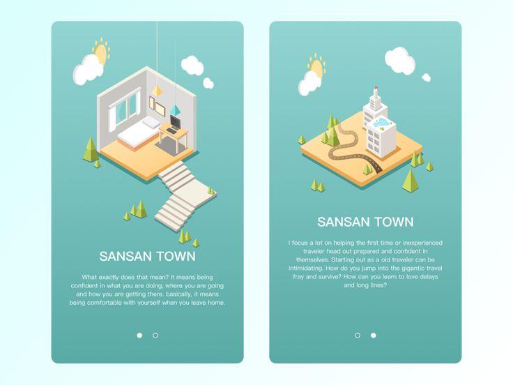 Isometric Style design 02 by sansan #Design Popular #Dribbble #shots