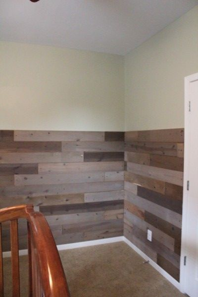 Half Wall Wood Paneling: Pallet Project Reveal!