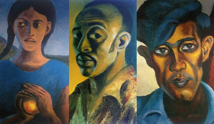 Portraits in chronological order by Gerard Sekoto (South African, 1913-1993)