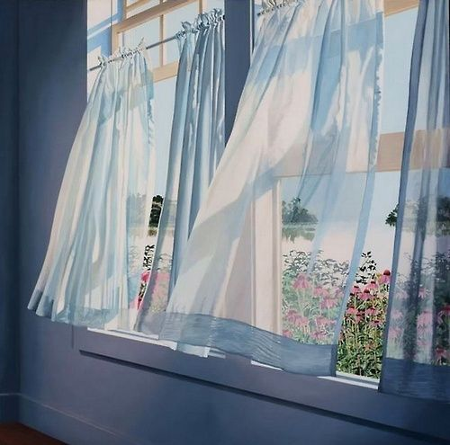 17 best images about curtains in breezes on pinterest for Painting sheer curtains