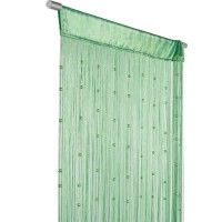 Fadenvorhang Fadengardine Türvorhang Perlen 90x250cm Helena grün