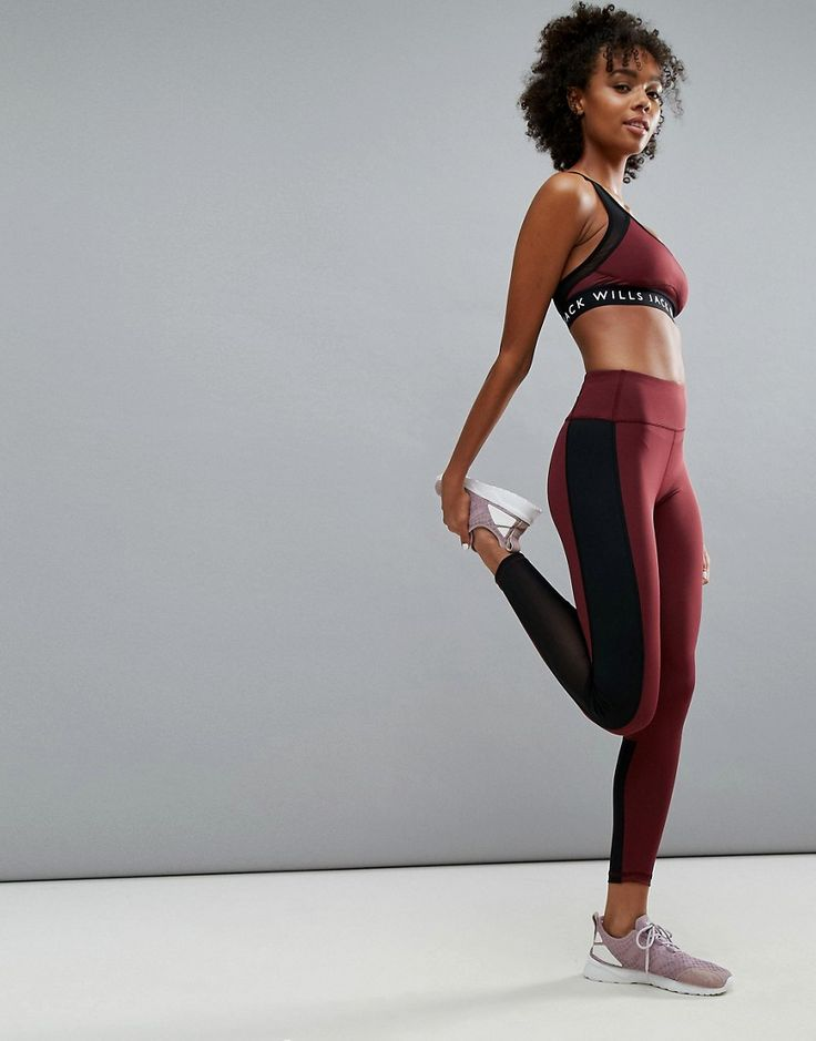 Get this Jack Wills's basic leggings now! Click for more details. Worldwide shipping. Jack Wills Gym Legging in Colour Block - Red: Leggings by Jack Wills, Smooth super-stretch fabric, Anti-pilling technology keeps your gear looking new, Chlorine resistant and quick drying, In-built UV protection, High-rise cut, Wide-cut elasticated waistband, Offers extra support and comfort, Signature Jack Wills logo, Mesh inserts for extra breathability, Double layer fabric to back for extra coverage…