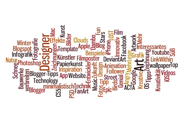 Make nice artworks with wordle, not photoshop!