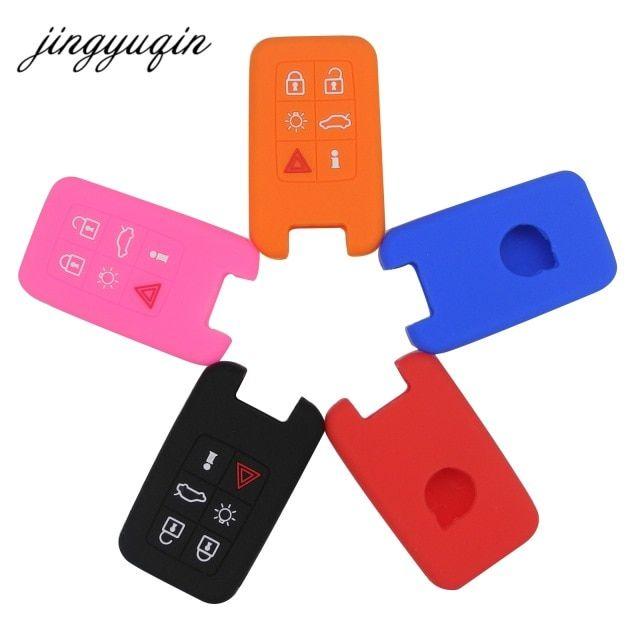 Jingyuqin Skin Silicone 6 Button Smart Remote Key Case For Volvo