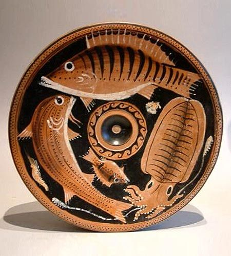 ancient greek fish plate for all the classics nerds like me out there! & 259 best Fish Plates images on Pinterest | Fish plate Ancient ...