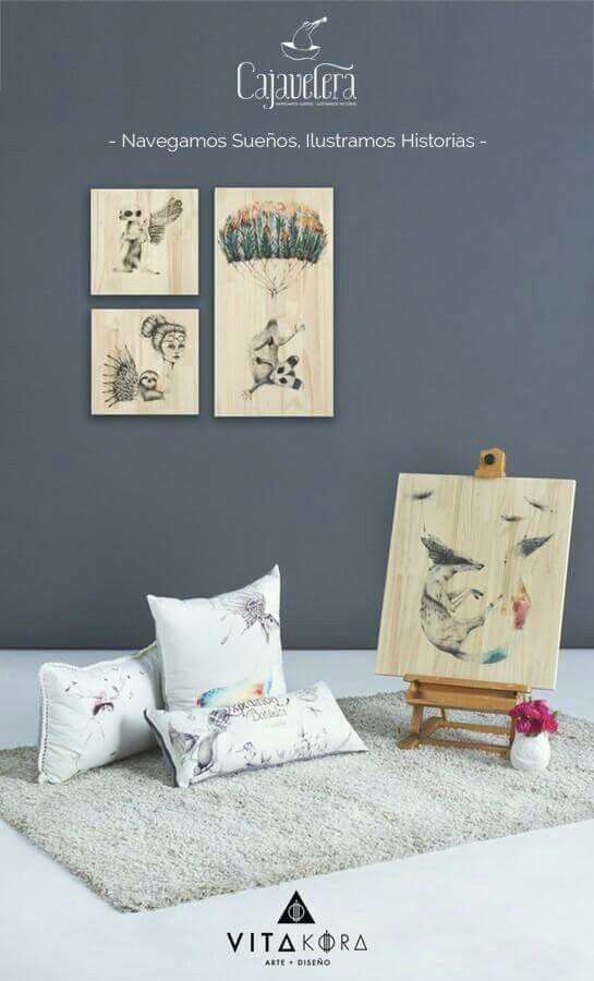 Beautiful illustrations to decorate your home! Thanks to #cajavelera available in www.vitakoradesign.com  #online #store #gallery #art #design #illustration #homedeco #style #creative #exclusive