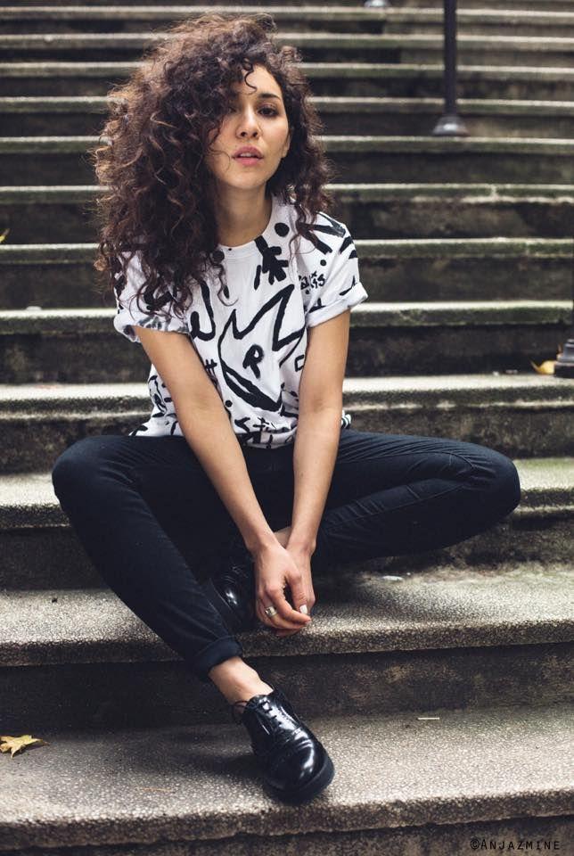 Paris-based actress & director Sofiia Manousha wearing FW15 Eva Shoe